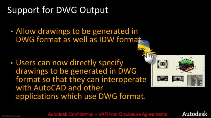 Support for DWG Output