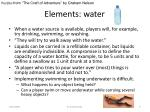 elements water