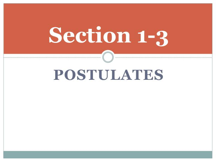 Section 1-3