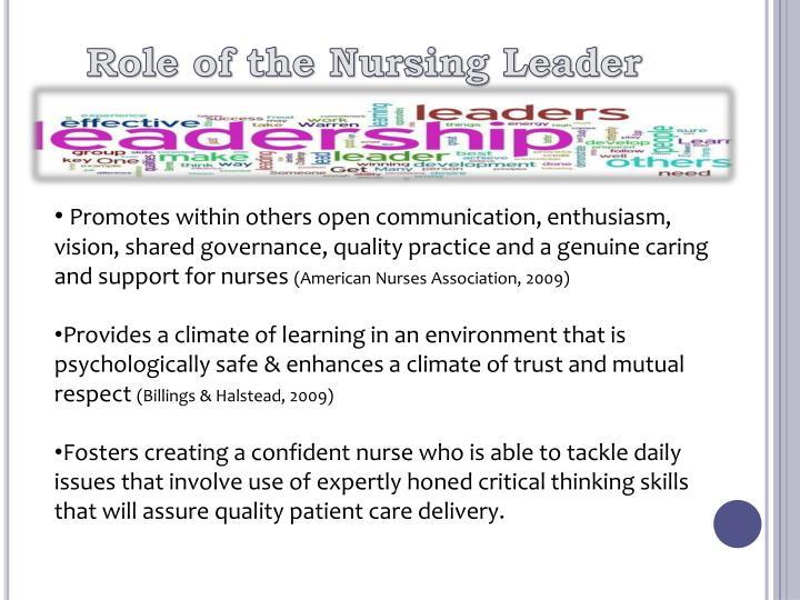 Role of the Nursing Leader