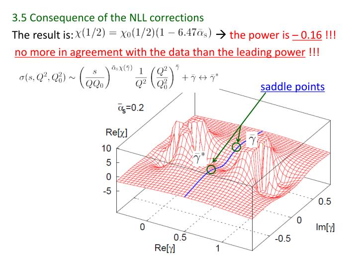 3.5 Consequence of the NLL corrections