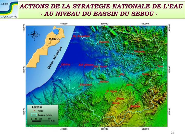 ACTIONS DE LA STRATEGIE NATIONALE DE L'EAU