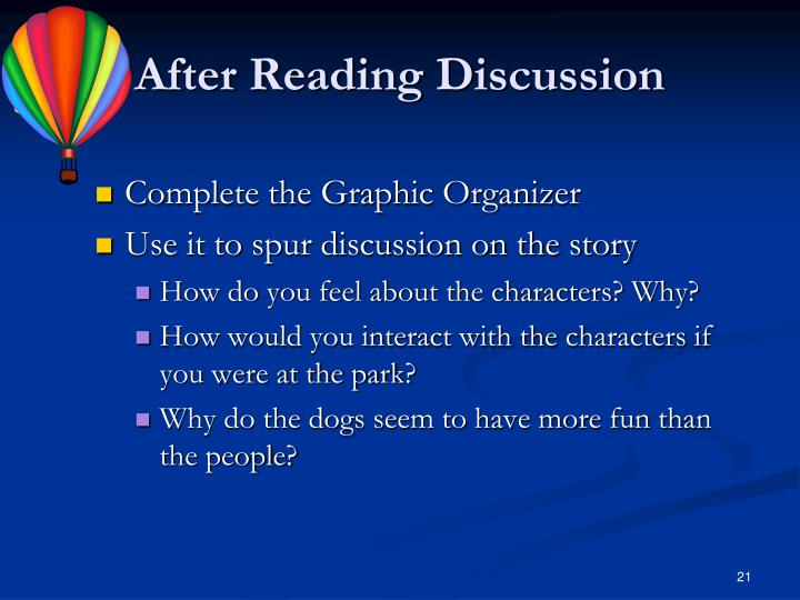 After Reading Discussion