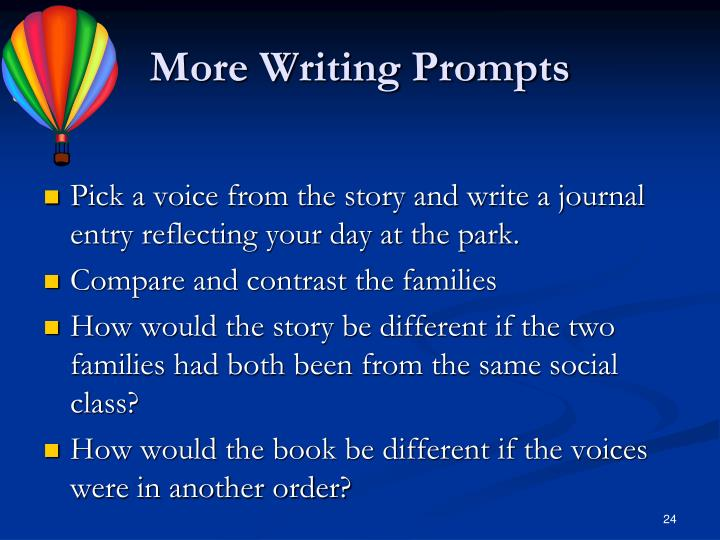 More Writing Prompts