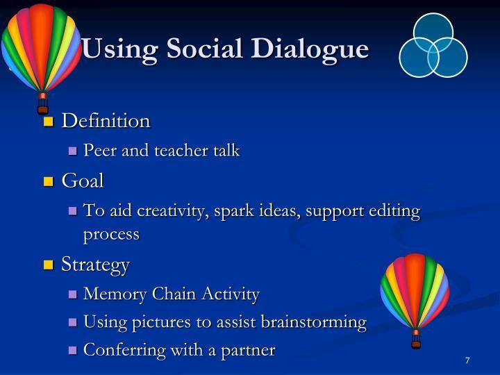 Using Social Dialogue
