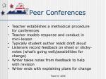 peer conferences