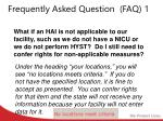 frequently asked question faq 1