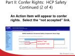 part ii confer rights hcp safety continued 2 of 4