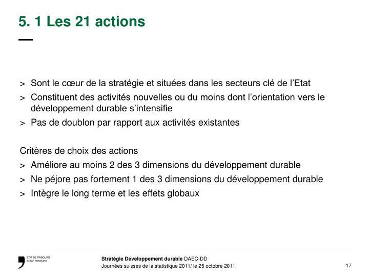 5. 1 Les 21 actions