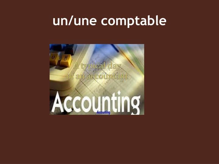un/une comptable