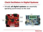 clock oscillators in digital systems