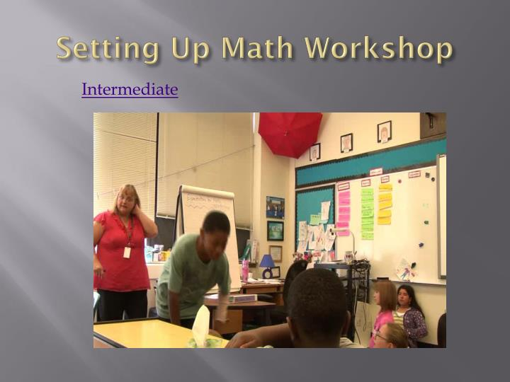 Setting Up Math Workshop