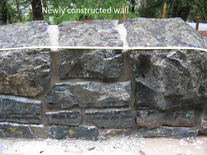 Newly constructed wall