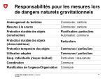 responsabilit s pour les mesures lors de dangers naturels gravitationnels