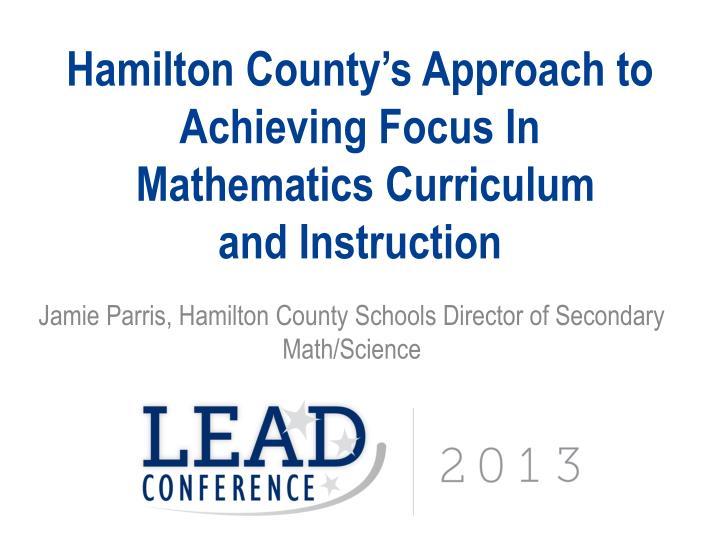 Ppt Mathematics Instruction Curriculum And Coaching Panel