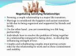 negotiating satisfying relationships