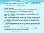 introduction l apport de norbert elias interaction et interd pendance