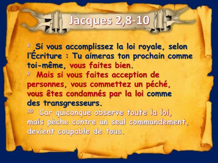 Jacques 2,8-10
