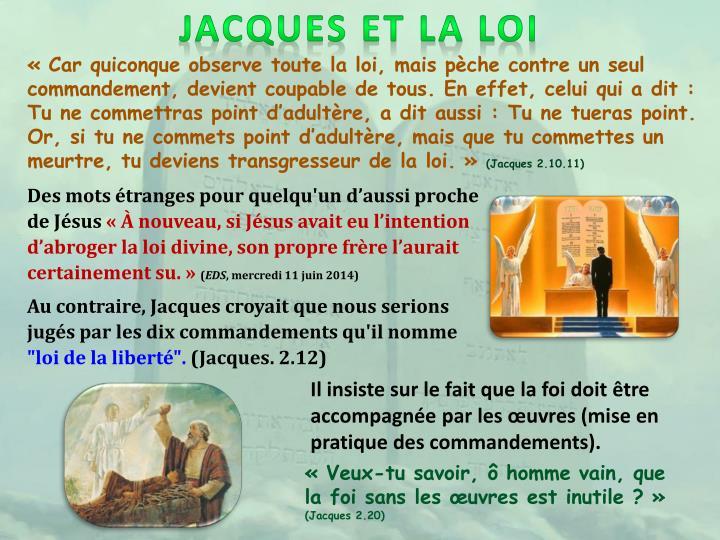 JACQUES ET LA LOI
