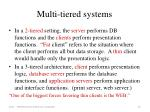 multi tiered systems