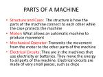 parts of a machine