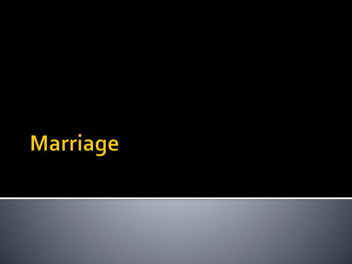 marriage n.