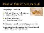 trends in families households