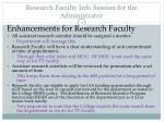 research faculty info session for the administrator2