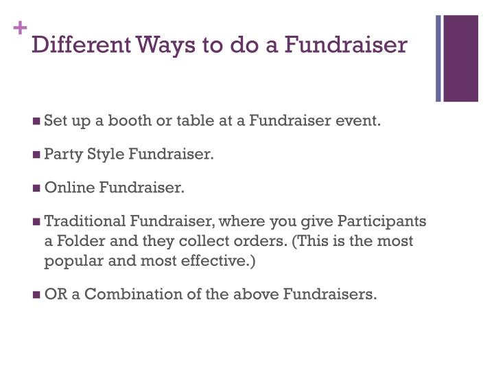 Different ways to do a fundraiser