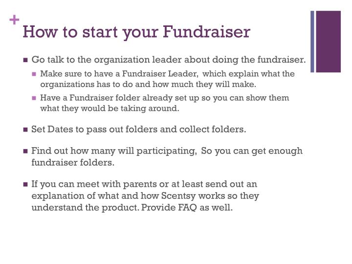 How to start your Fundraiser