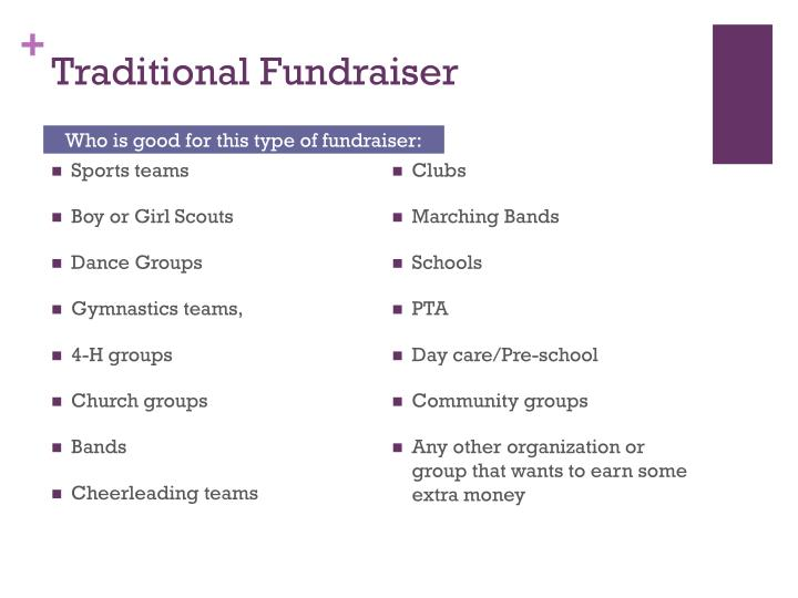 Traditional Fundraiser