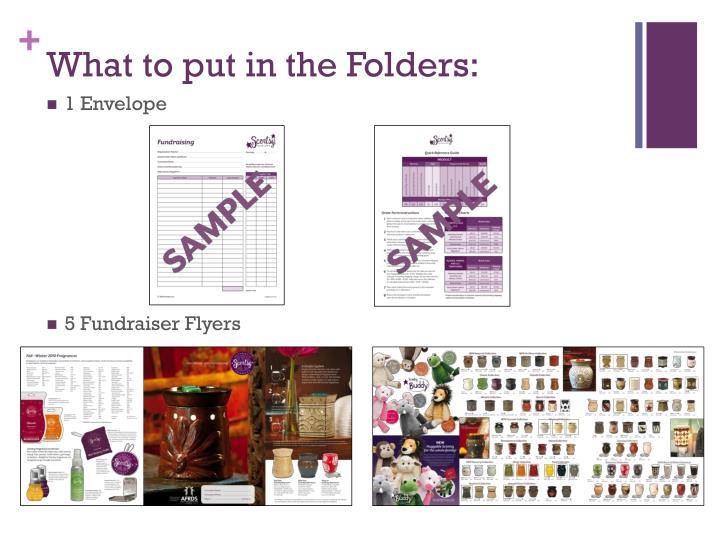 What to put in the Folders: