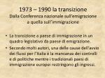 1973 1990 la transizione dalla conferenza nazionale sull emigrazione a quella sull immigrazione