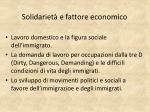 solidariet e fattore economico