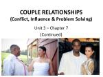 couple relationships conflict influence problem solving