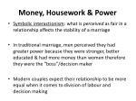 money housework power
