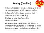 reality conflict