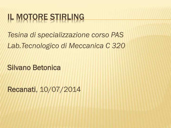 il motore stirling n.