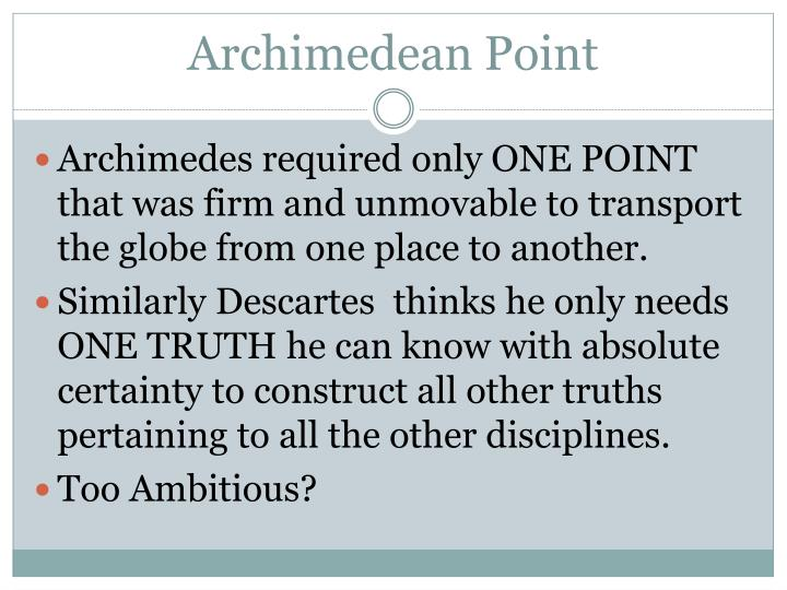Archimedean point