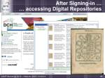 after signing in accessing digital repositories