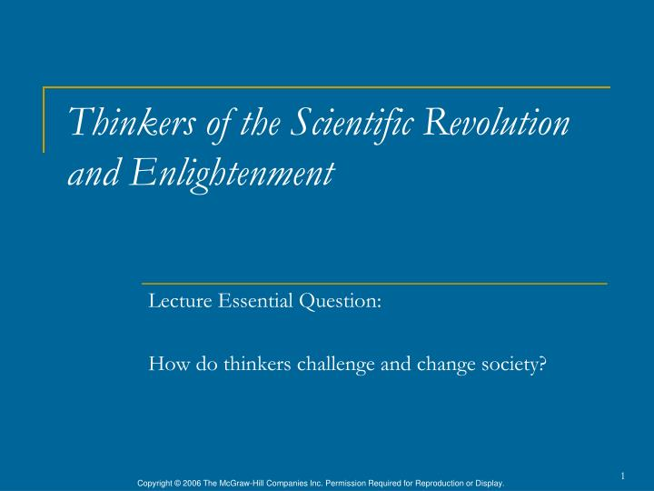 thinkers of the scientific revolution and enlightenment n.