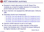 adt intervention summary