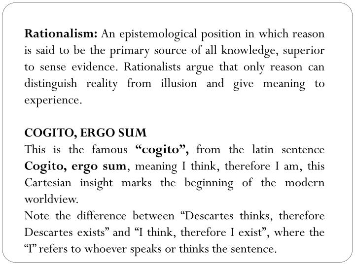 cogito ergo sum explanation