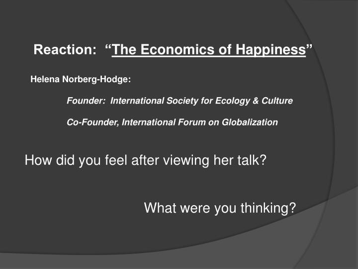 Reaction: