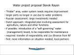 water project proposal slavsk rayon