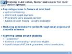 making clld safer faster and easier for local action groups