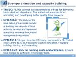 stronger animation and capacity building