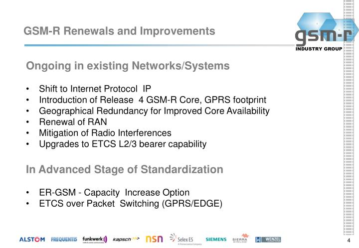 GSM-R Renewals and Improvements