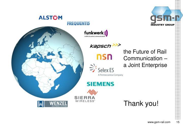 the Future of Rail Communication –a