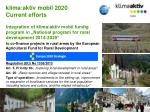 klima aktiv mobil 2020 current efforts